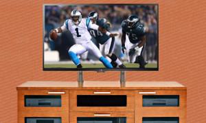 Thanksgiving Football Wide Screen TV
